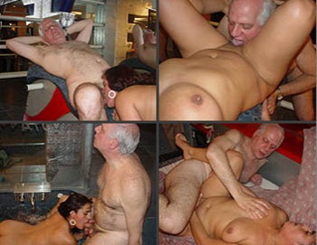 busty bimbo licked and fucked by a silver daddy